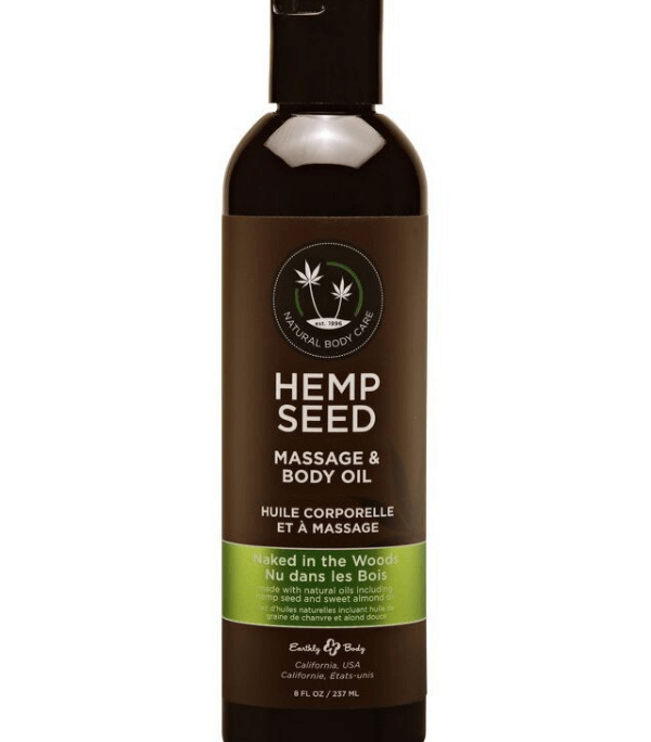 Kūno masažinis aliejus Hemp Seed Massage Oil Naked In The Woods MAS022 237 ml