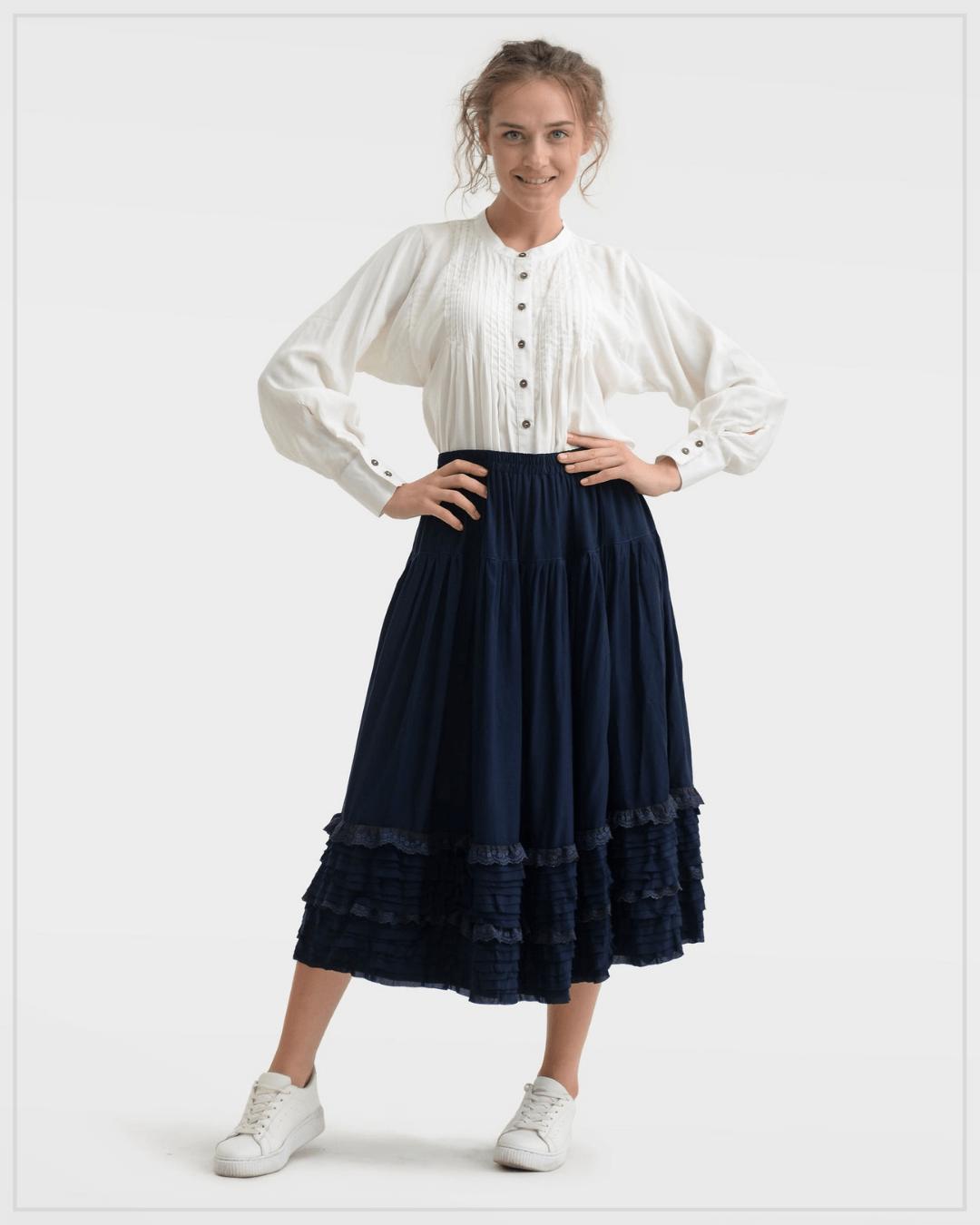 SHTAPEL viskozės sijonas 11094
