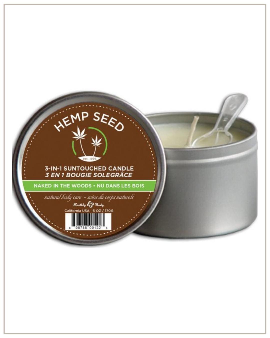 Hemp seed žvakė – 3 in 1 Naked in the woods, 170g