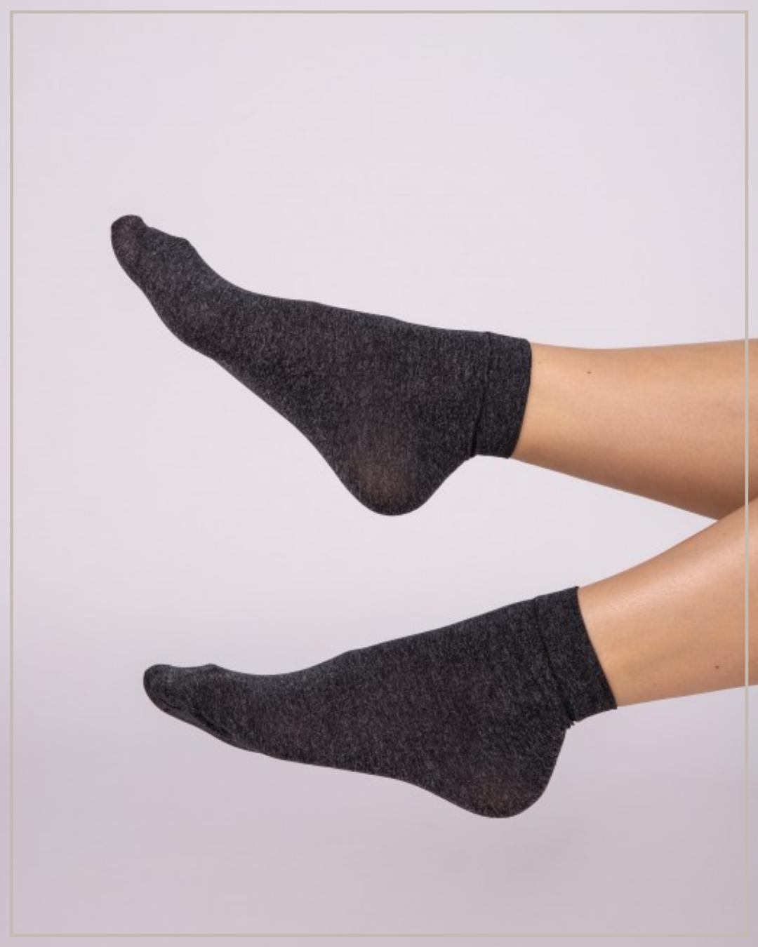 60 den pilkos, melanžinės kojinaitės, 2 poros