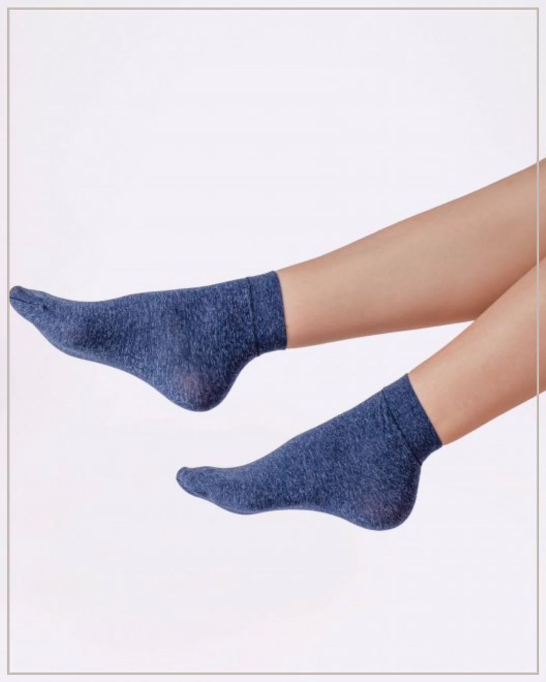 60 den mėlynos, melanžinės kojinaitės, 2 poros