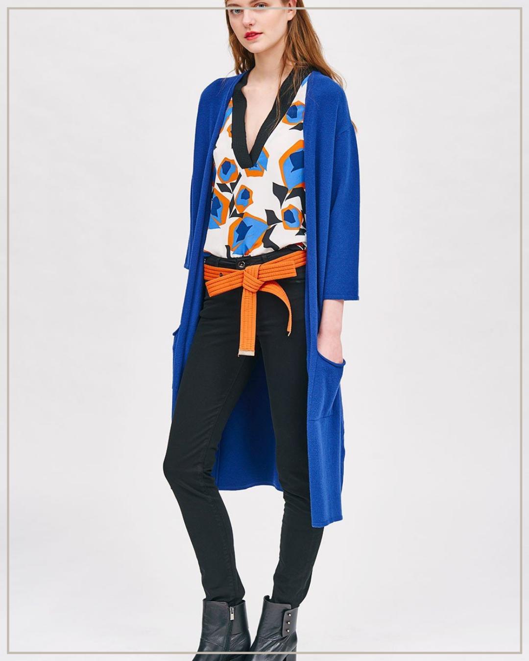 Ilgas viskozės megztinis Cop copine